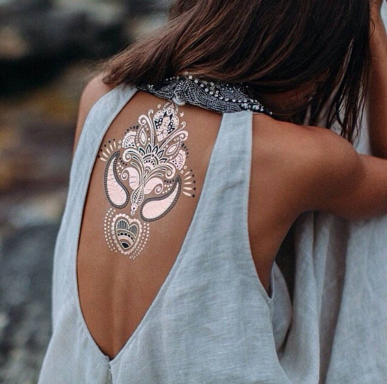 bef09a844d0a1 What do you think about this type of permanent tattoos? I tried this out  this summer and I really love it metallic tattoos