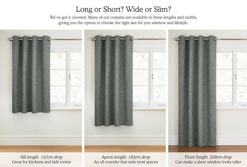 Simple Handy Length Guide Curtains Amp Blinds Home