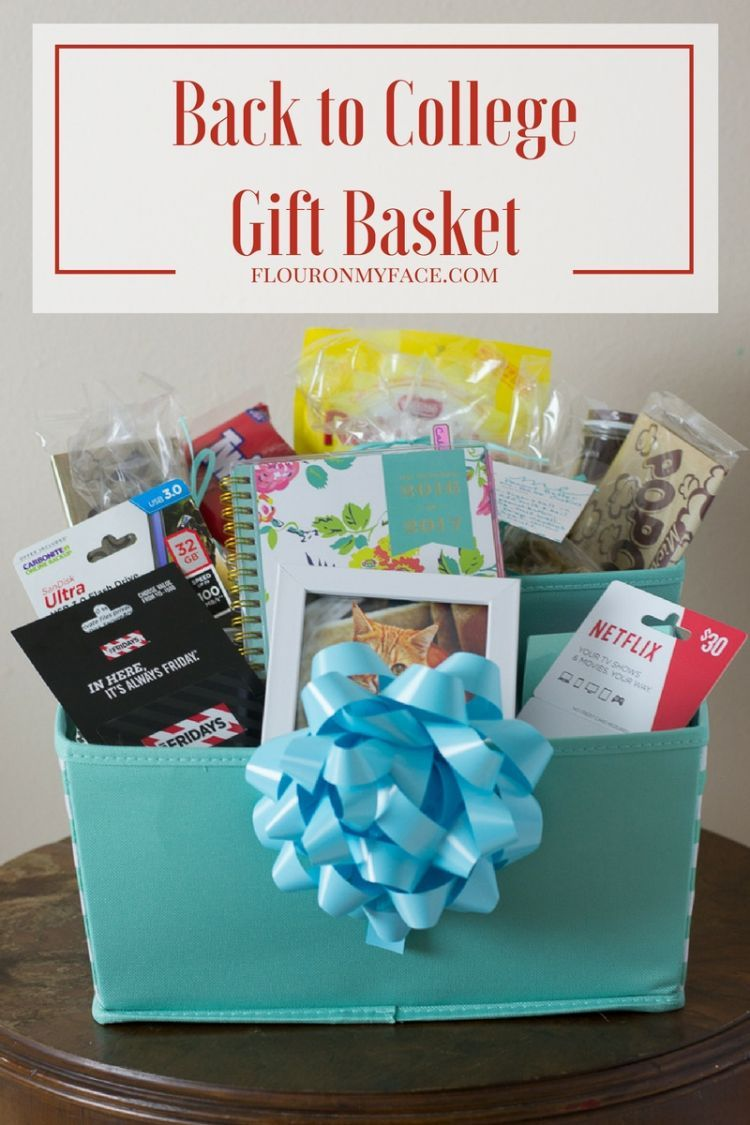 Send Your College Student Back To School With This Easy DIY Gift Basket Packed Full Of Some Their Favorite Things From Home