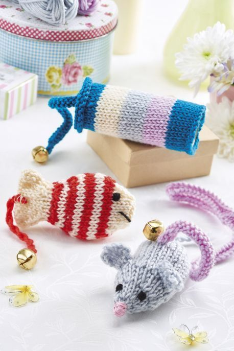Cat Toys - Free Knitting Patterns - Animals | Free pattern, Toy and Cat