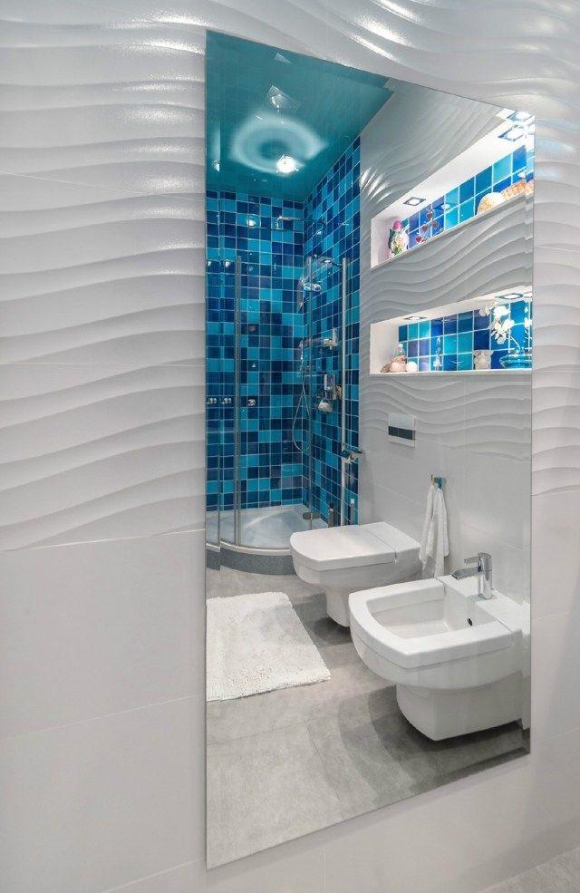 Am nagement salle de bains sans fen tres 30 id es supers sdb bathroom hall bathroom et - Fenetre salle de bain ...