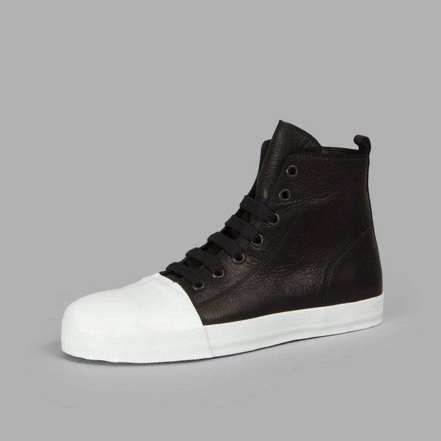 Ann Demeulemeester High Top Leather Sneakers