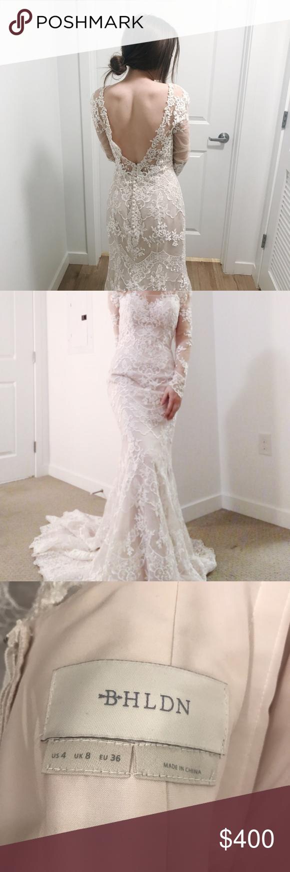 Bhldn Godfrey Gown Wedding Dress Anthropologie New Size 4 Long