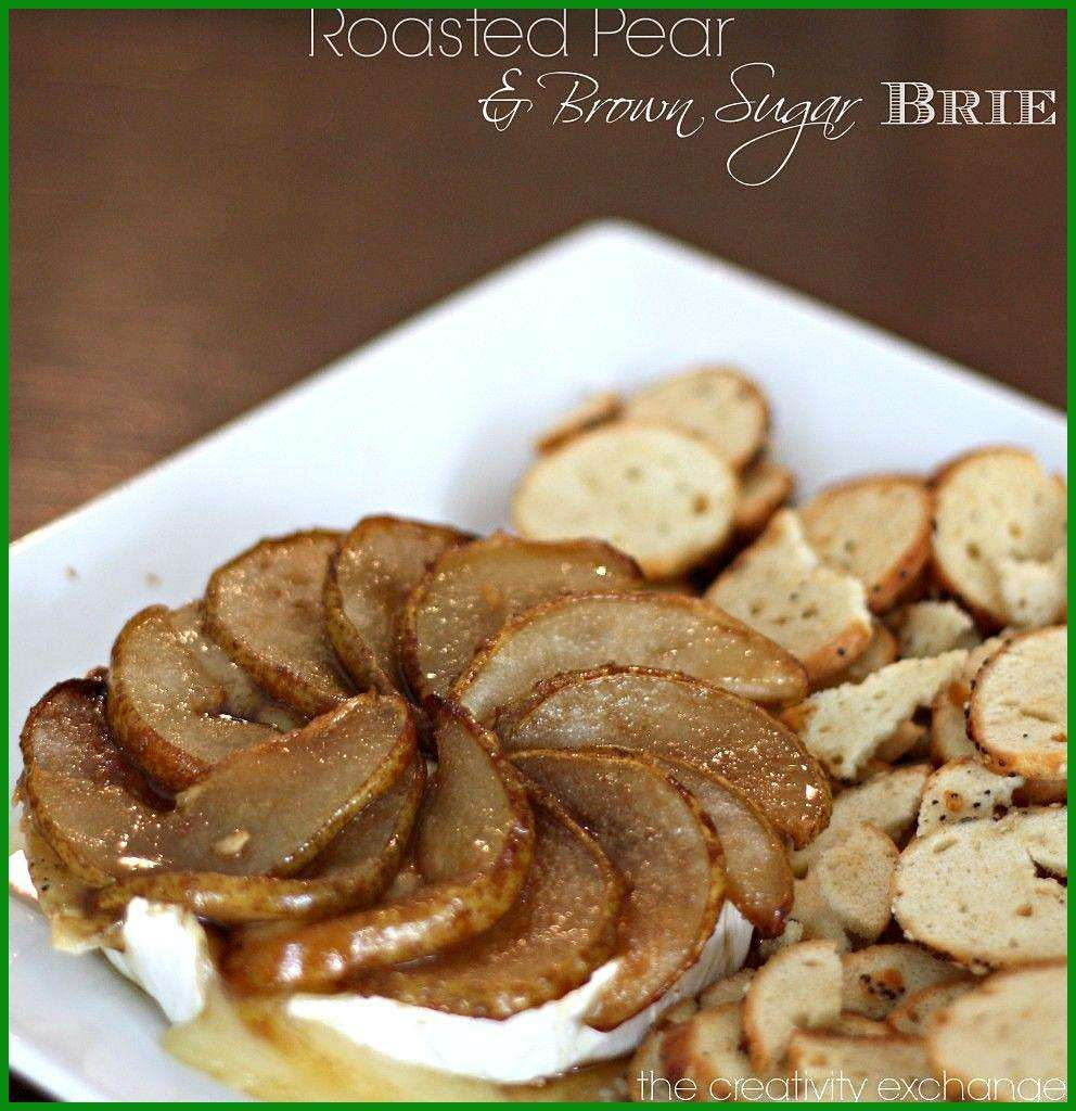 Roasted Pear and Brown Sugar Brie (Easy Holiday Appetizer)… appetierz puff pastry appetierz room