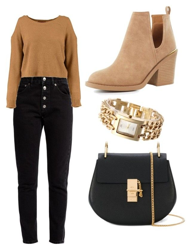 """Untitled #11"" by isamooras on Polyvore featuring Balenciaga, Qupid and Chloé"