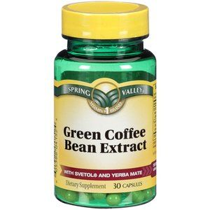 Spring Valley Green Coffee Bean Extract Dietary Supplement With
