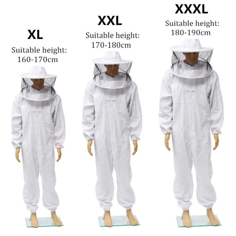 Pro Beekeeping Protective Equipment Veil Bee Keeping Full Body Suit Smock XL NEW