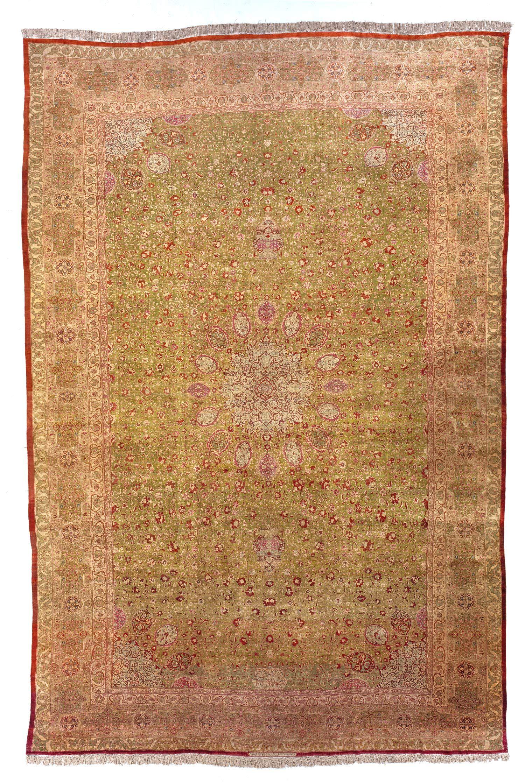 X Large Silk Antique Persian Tabriz Oversized Rug
