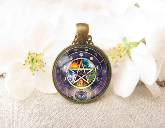wiccan jewelry wicca pentagram necklace wiccan by GreensWave, $10.50
