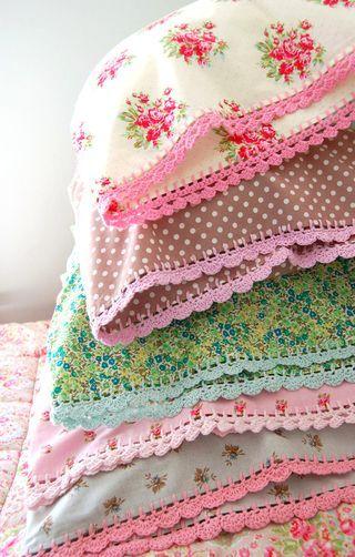 Umhäkeln von Kissen und Decken   kreativ ideen   Pinterest   Häkeln ...