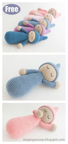 Sleepy Doll Amigurumi Free Crochet Pattern and Video Tutorial #crochetdoll