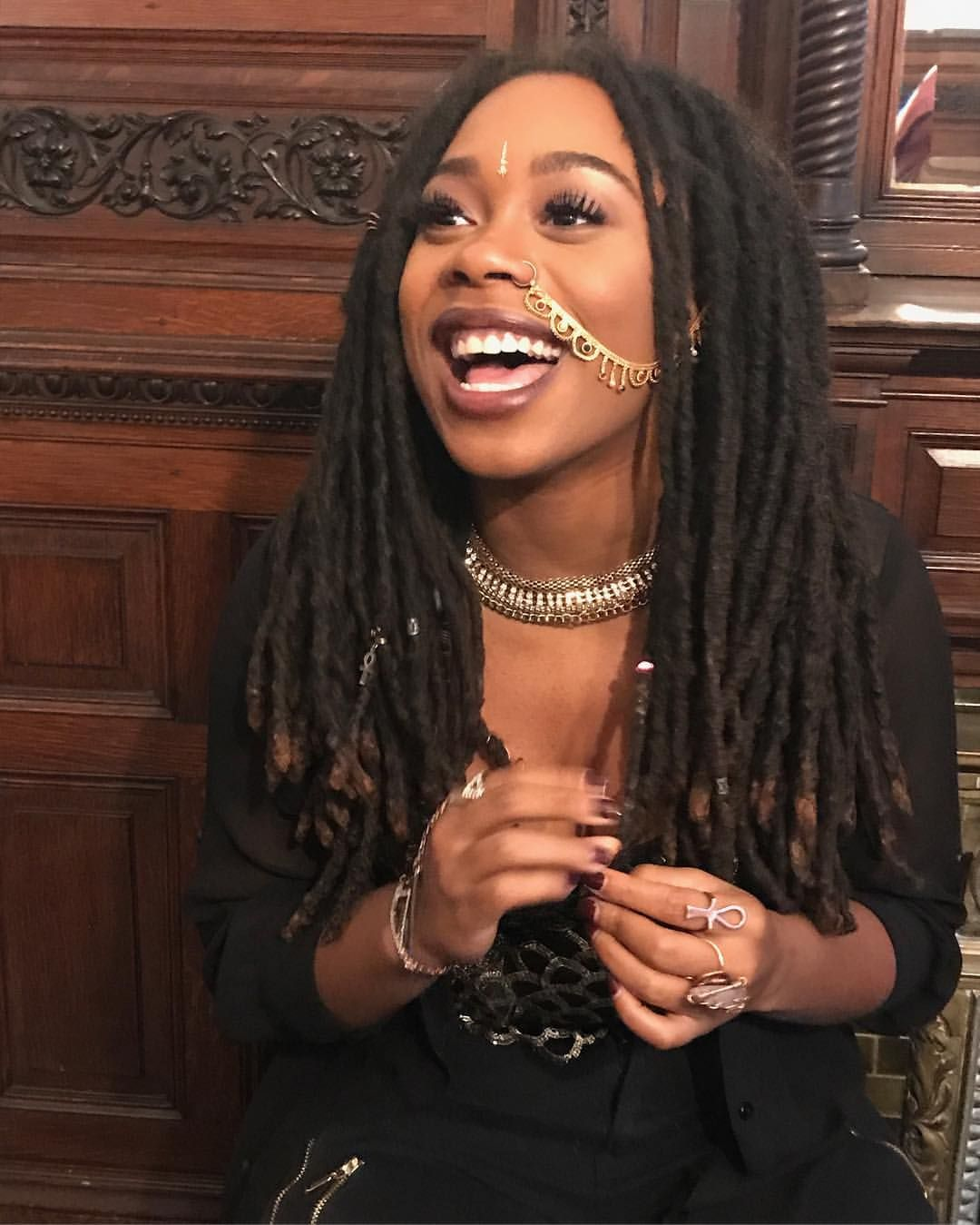 Awesome Black Woman With Locs Dreads Locs Dreadlocks Pinterest Hairstyles For Women Draintrainus