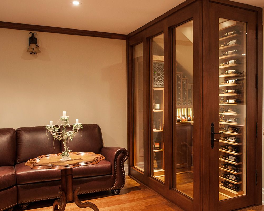 Transitional wine cellar by papro consulting wine cellers