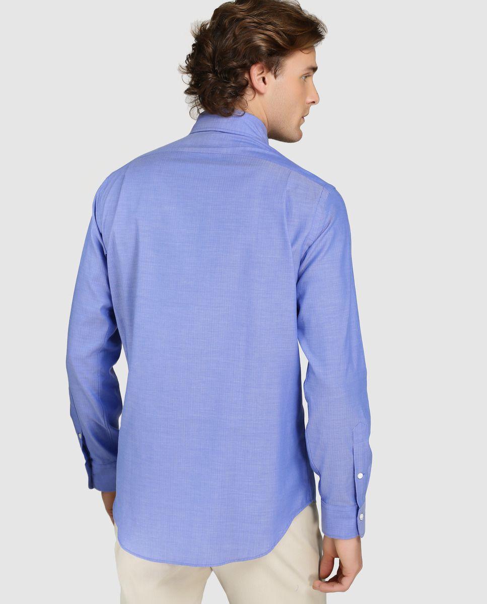 d3a27377d6 Camisa de hombre Polo Ralph Lauren regular lisa azul · Polo Ralph ...