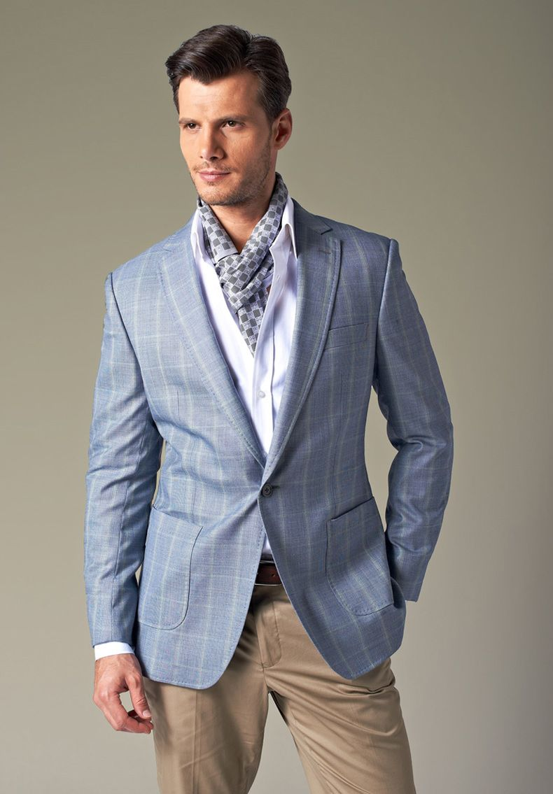Light Blue One button Blazer For Men | UPUNIQUE | Pinterest | Blue ...