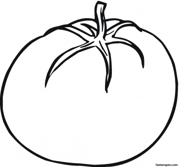 Printable Vegetables Tomato Coloring Page
