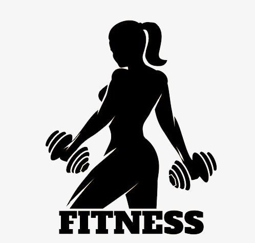 Fitness Preto E Branco Desenhos Animados O Movimento Arquivo