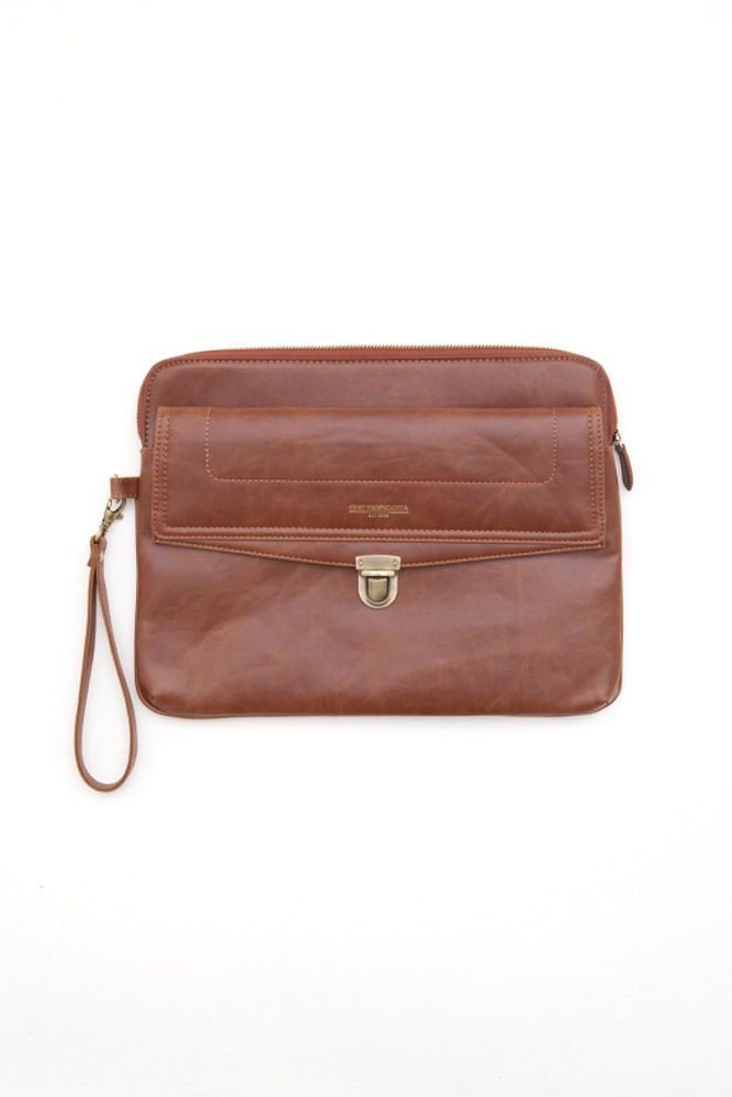 25a66b75518f obey - men s enbankment envelope bag (light brown) - obey