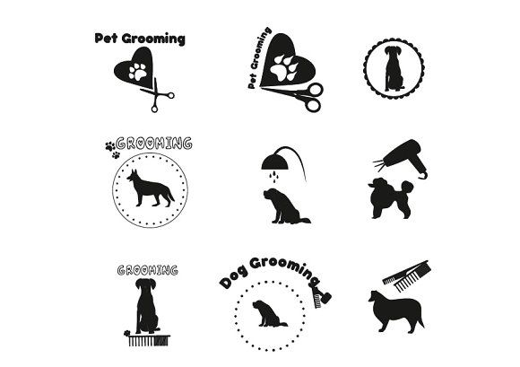 Pet Grooming Dog Grooming Label Pet Grooming Dog Grooming Dog Groomer Tattoo