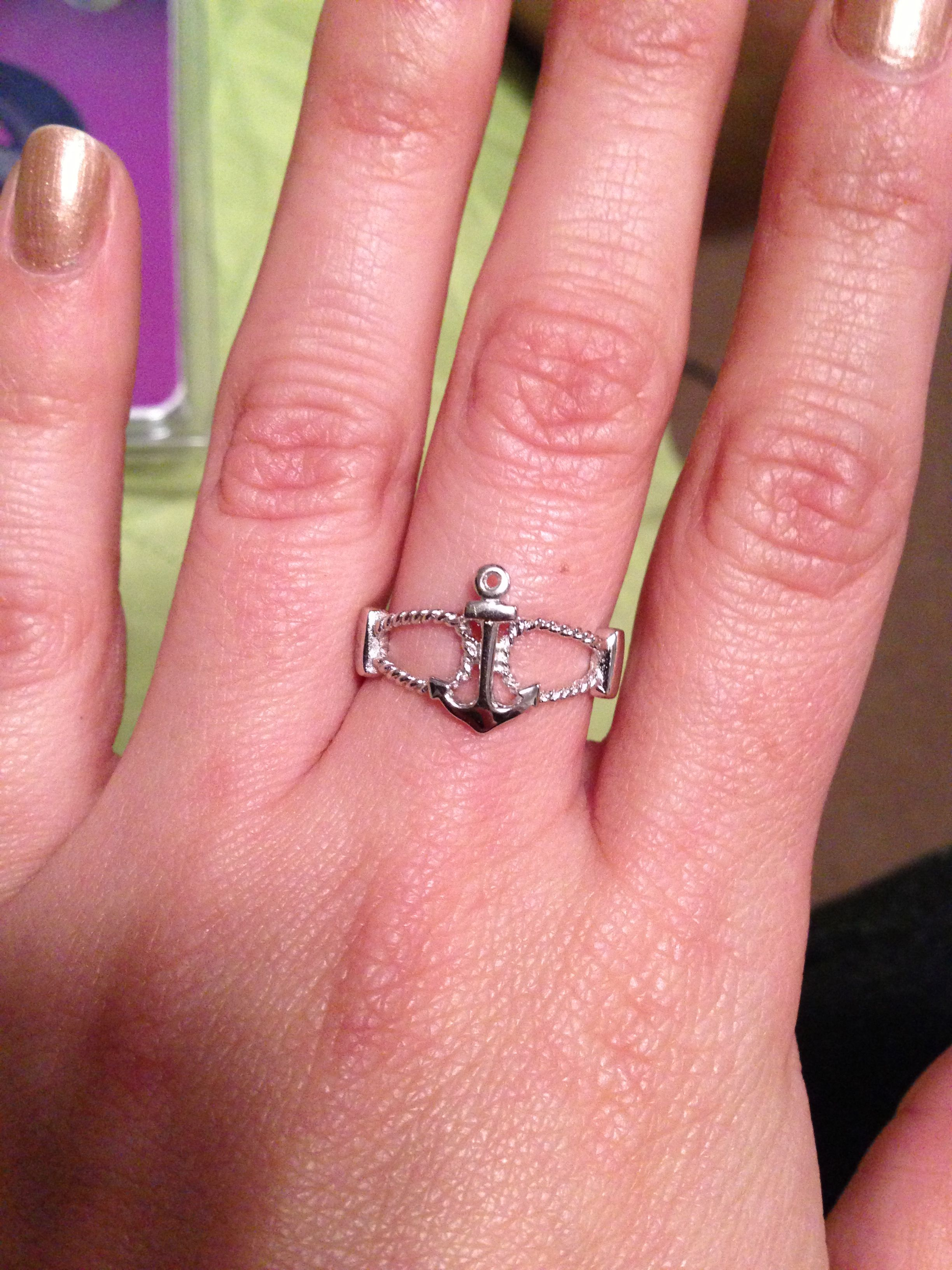Anchor ring from my bf :) | jewelry | Pinterest | Anchor rings and Ring