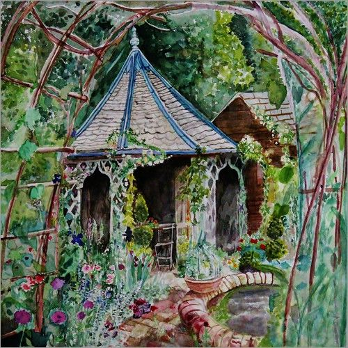 Atelier Stephanie Koehl - Gartenpavillon - Aquarell