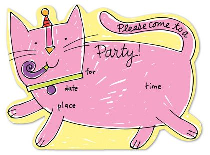 1000 images about Birthday Fun – Cat Birthday Invitations