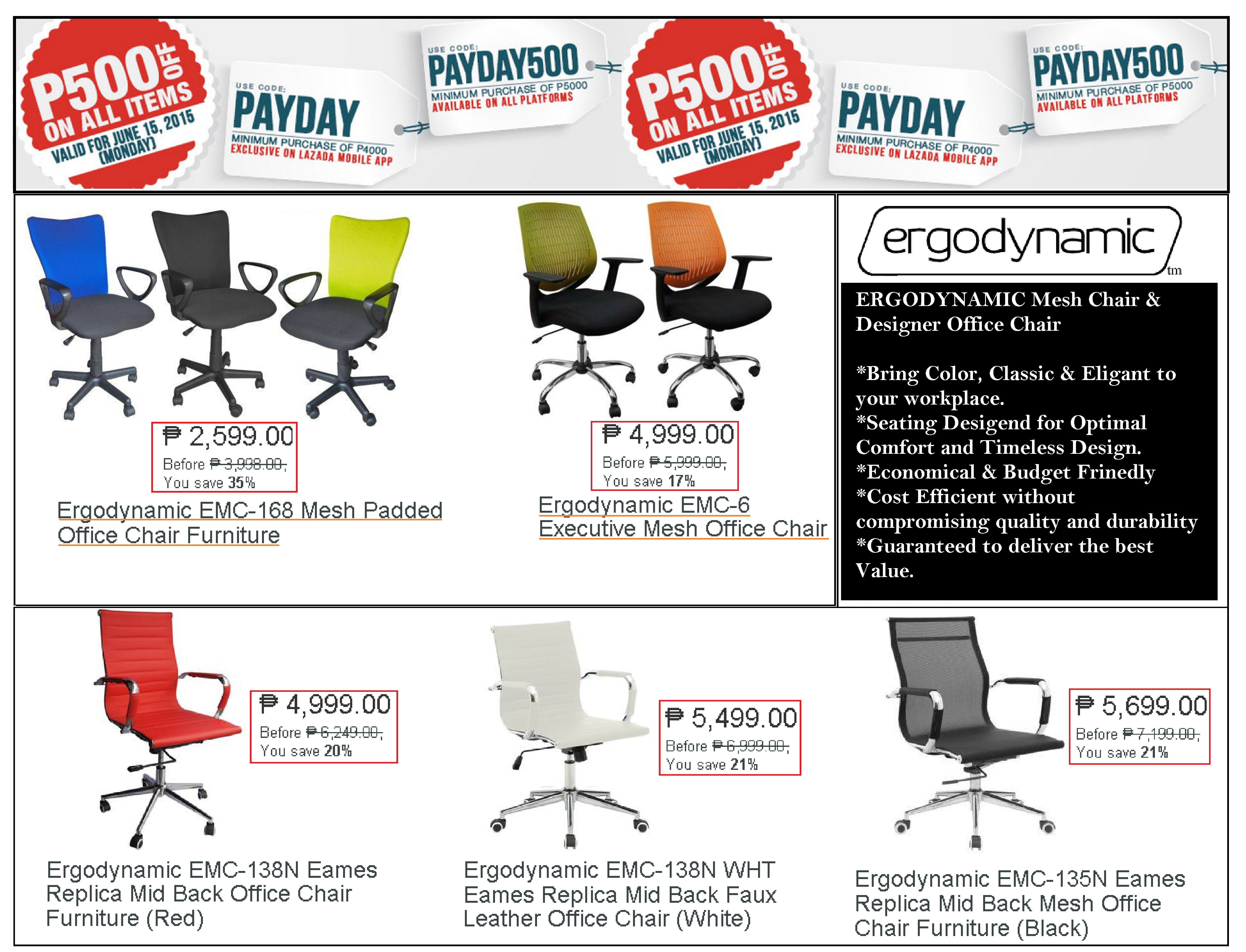 Office Furniture Chair Lazada Payday Save P500 00 Off On Chairs Use Voucher Code Payday500 For Mobile