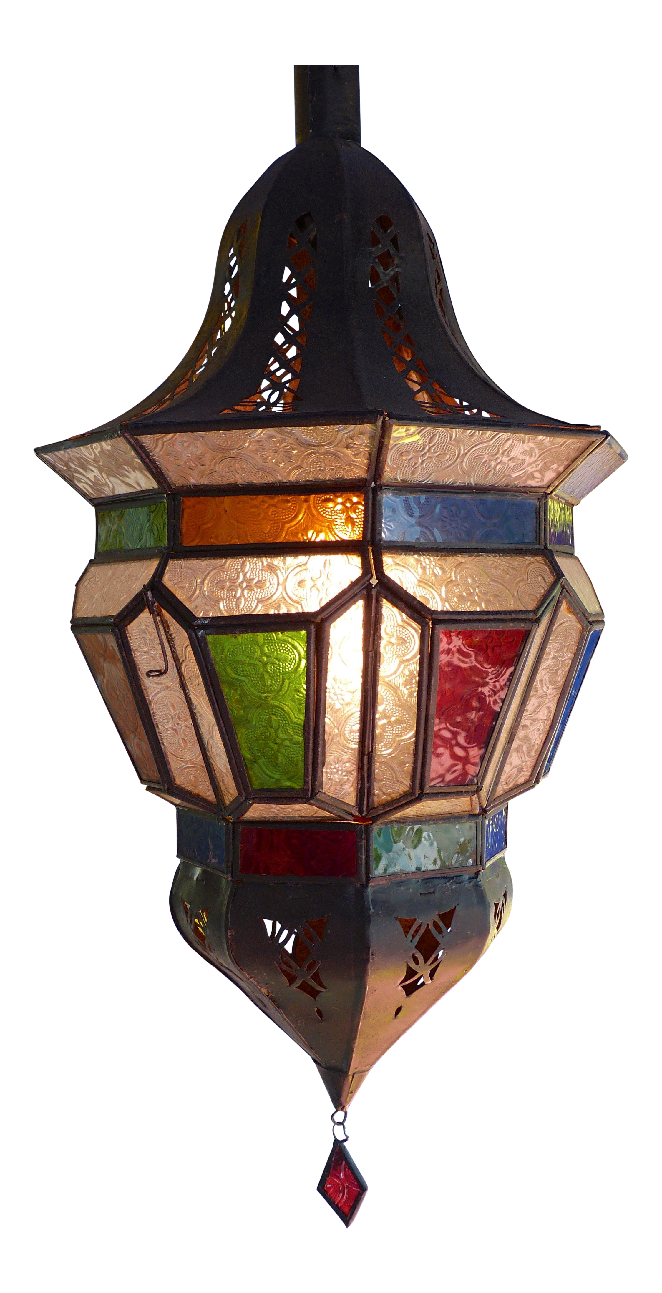 Multicolor Moroccan Glass Pendant Lantern On Chairish Com 285 00 Outdoor Pendant Lighting Shop Pendant Lights Lantern Pendant