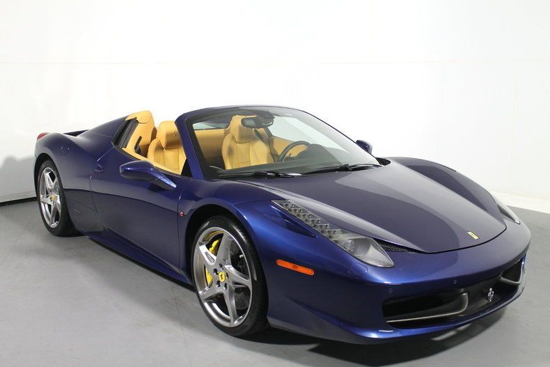 Ferrari 458 Spider Blu Tour De France New Low Price