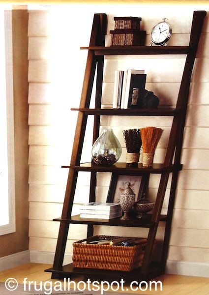 Bayside Furnishings Ladder Bookcase Costco Frugal Hotspot