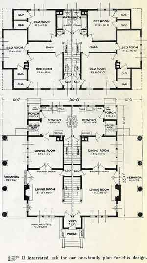 Standard Home Plans For 1926 The Manchester House Plans Vintage House Plans Architectural Floor Plans