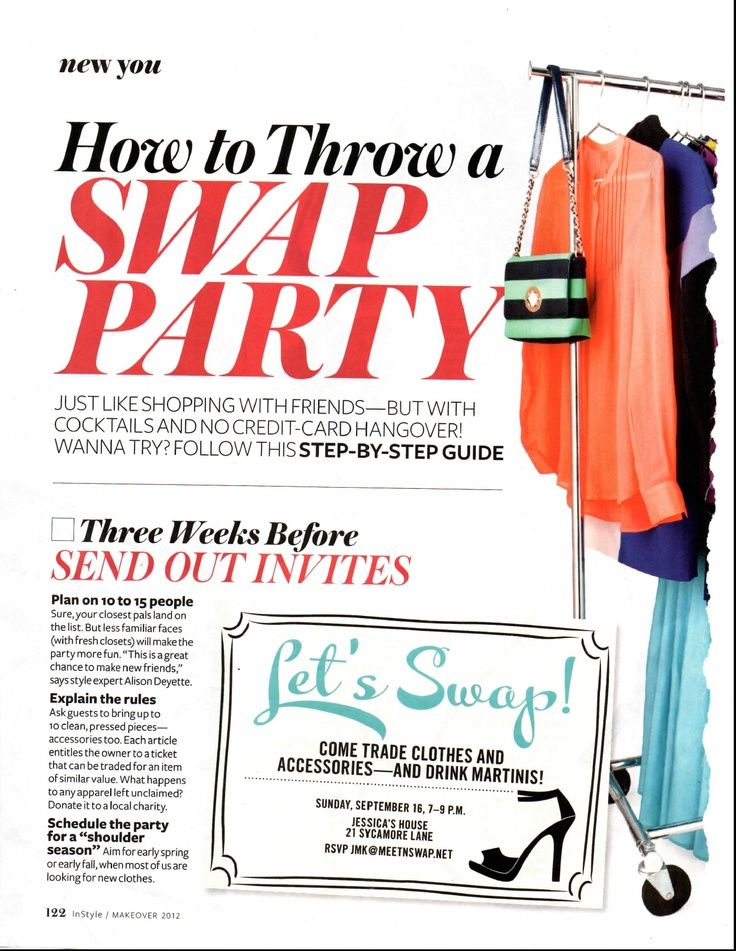 How To Throw A Swap Party - Rehash Clothes | Party Ideas