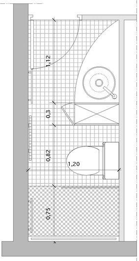 Un Rangement Pour Separer Point D Eau Et W C Salle De Bains Couloir Plans Petite Salle De Bain Salle De Bains Studio
