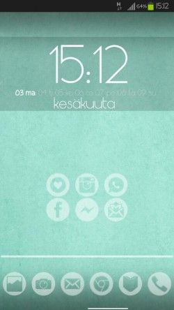 Simple green homescreen