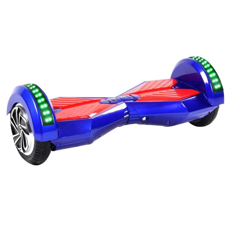 8 inch hoverboard with bluetooth remote led lights blue