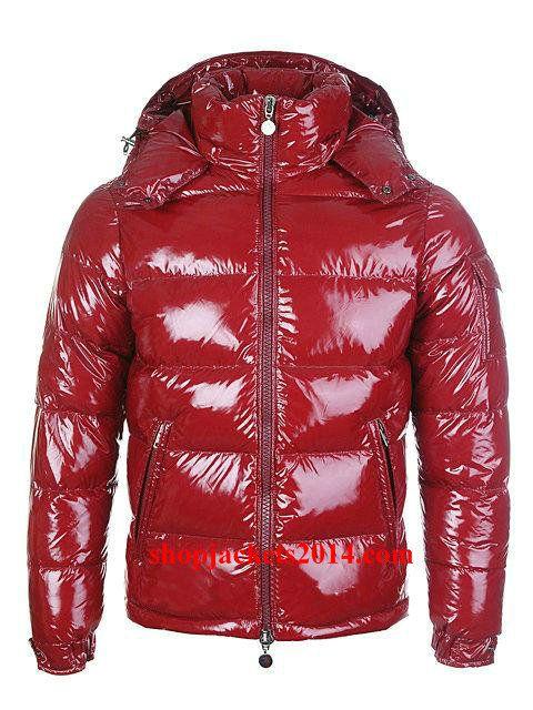 7ddf8fe22d36 Moncler Outlet UK Maya Mens Down Jackets Shiny Red