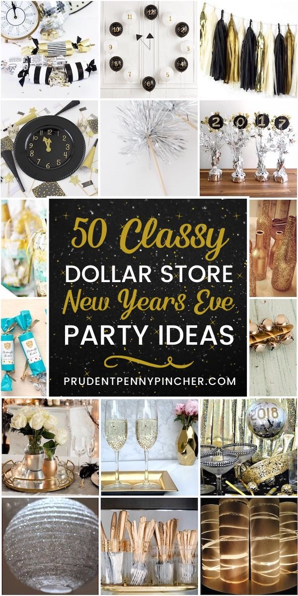 50 Dollar Store New Years Eve Party Ideas New Years Eve