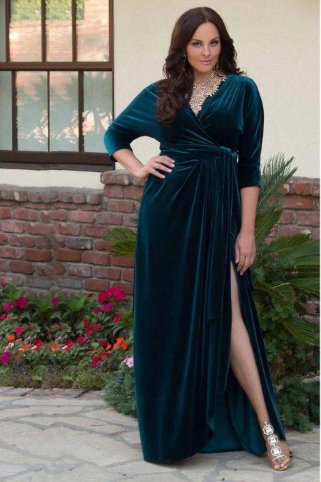 ee0e6e2f1521558 Бархатное платье с разрезом для полных | из бархата | Бархатные ...
