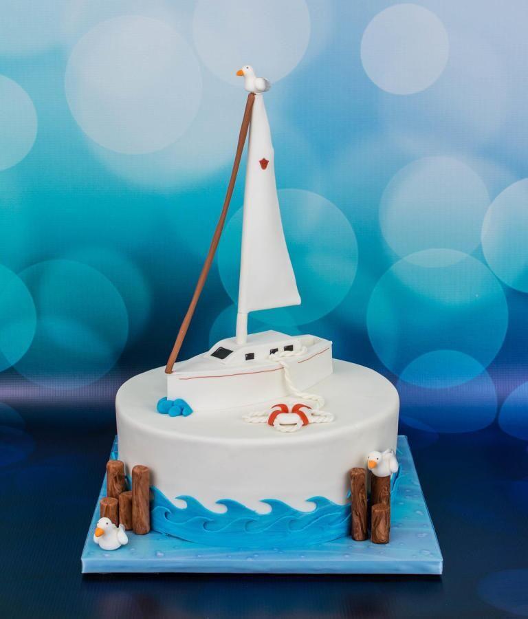 Prime Cakesdecor On Boat Cake Nautical Birthday Cakes Sailboat Cake Funny Birthday Cards Online Sheoxdamsfinfo