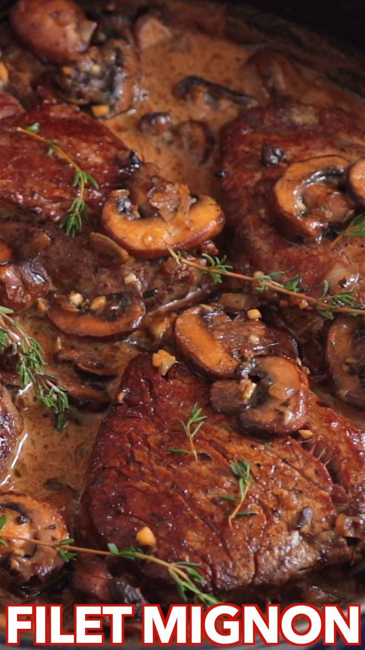 Filet Mignon Recipe in Mushroom Sauce (VIDEO) - Na
