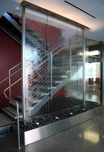 Beau Suspended Glass Water Wall In The Entry Lobby, Gardena, CA | Design  Inspiration | Pinterest | Water Walls, Lobbies And Walls