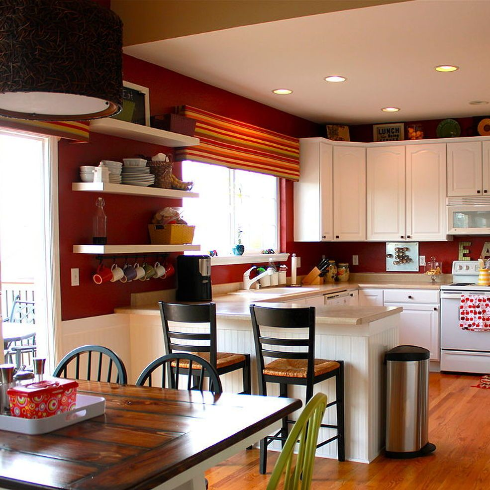 Painted Kitchen Cabinets and Beadboard | Freestanding ...