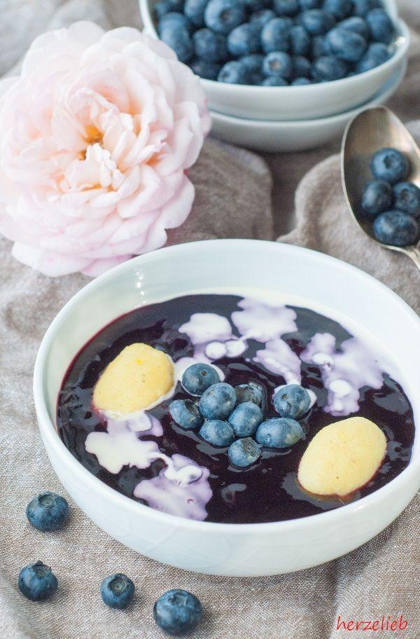 Schwedische Blaubeersuppe Rezept - typisch nordische Suppe!