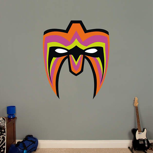 ultimate warrior mask fathead wall decal nba and nfl and