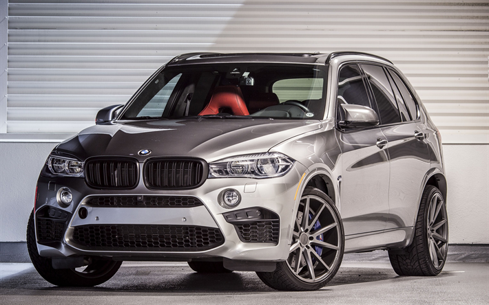 Download Wallpapers Bmw X5m 2017 Cars Suvs Vossen Tuning