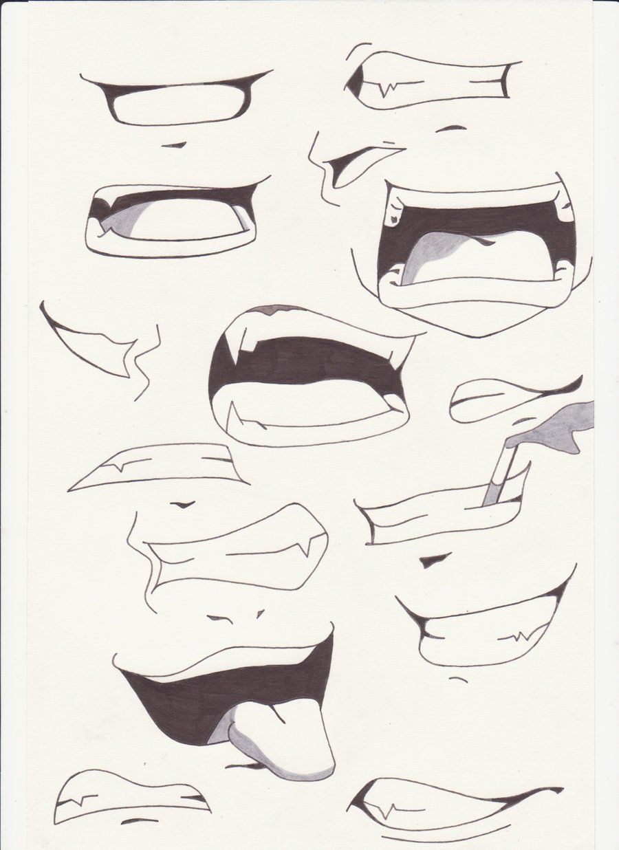 howtodrawanimelips mouths i by saber xiii manga anime traditional media drawings 2012