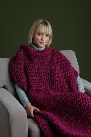 Crochet Sweater Blanket. Not a Slanket and not a Snuggie, this ...