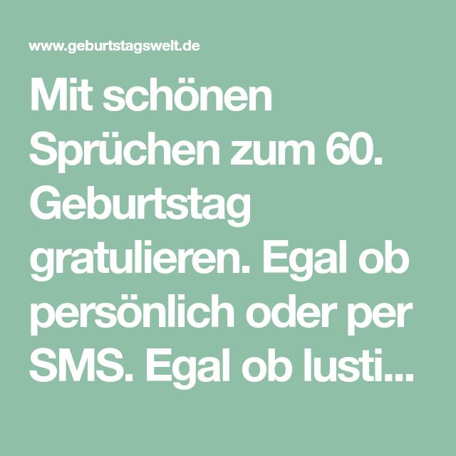 Geburtstagswunsche zum 60 per sms