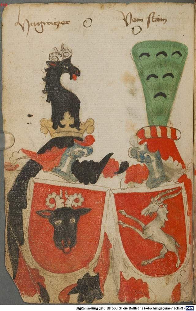 Ortenburger Wappenbuch Bayern, 1466 - 1473 Cod.icon. 308 u  Folio 36v