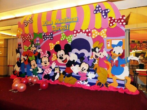 Minnie Mouse Bowtique Styro Backdrop Mickey Party